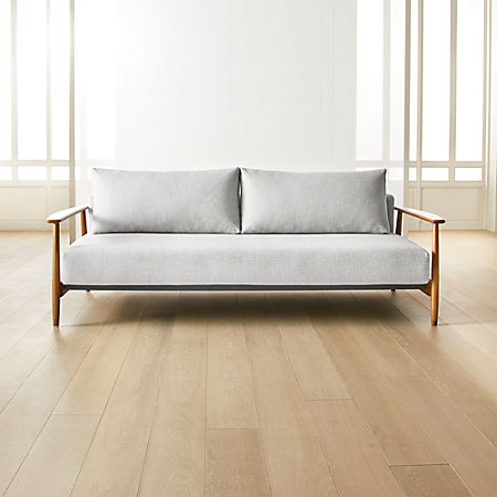 Una Grey Sleeper Sofa Reviews Cb2