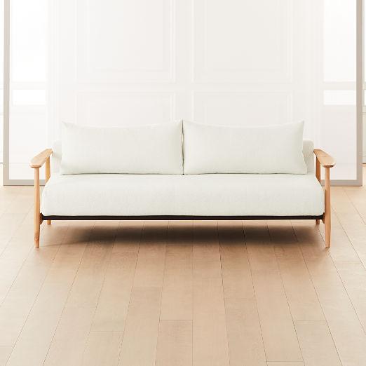 Una Ivory Boucle Sleeper Sofa