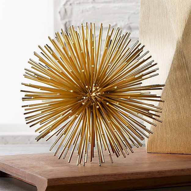 Decorative Objects For Home: Uni Small Gold Object + Reviews