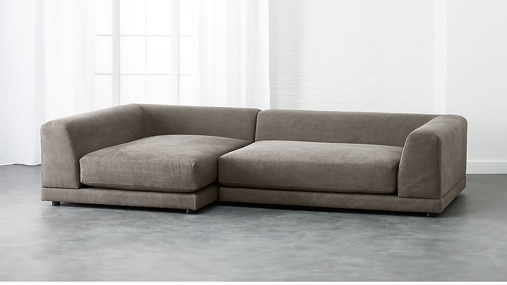 Uno 2 Piece Low Sectional Sofa Reviews Cb2