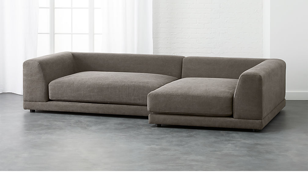 Uno 2 Piece Deep Sectional Sofa Reviews Cb2