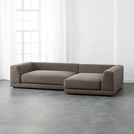Uno 2-Piece Sectional Sofa + Reviews | CB2