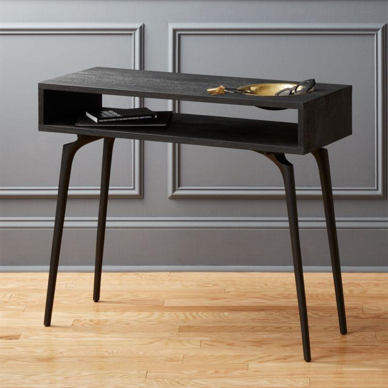 Unwind Black Console Table