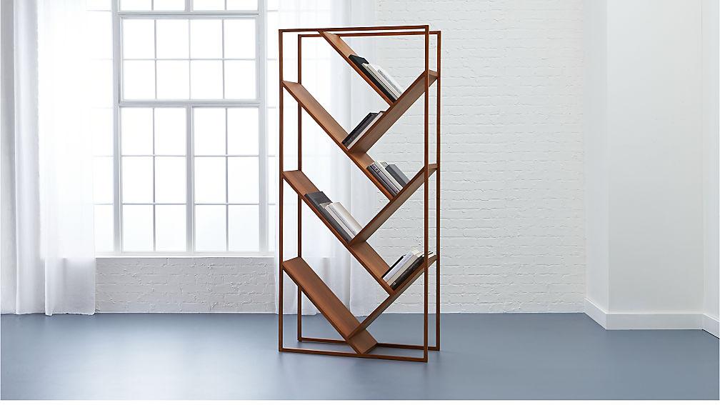 V Bookcase-Room Divider - Image 1 of 12