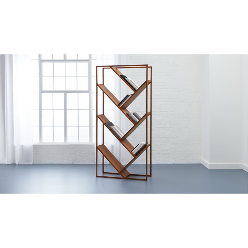 v bookcase room divider Reviews CB2