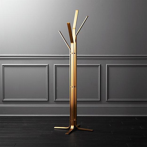 Valentina Standing Gold Coat Rack - Image 1 of 8