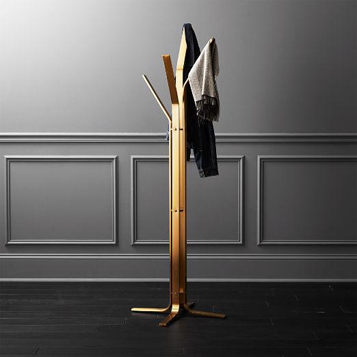 Valentina Standing Gold Coat Rack