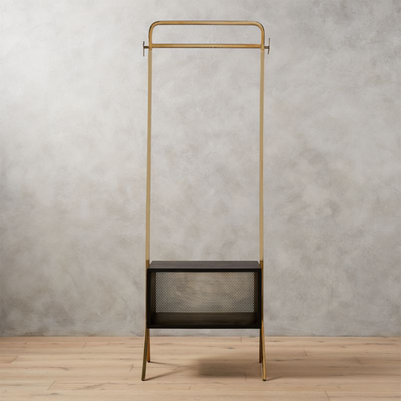 Valet Gold Clothing Rack Reviews Cb2