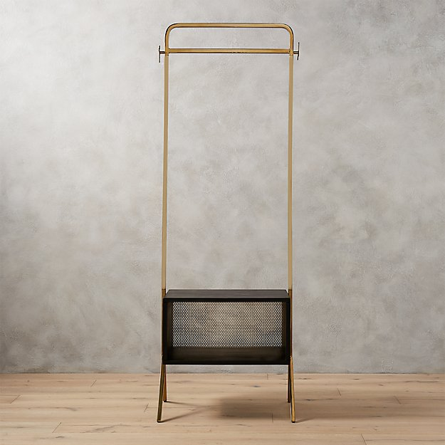 valet gold clothing rack + Reviews | CB2