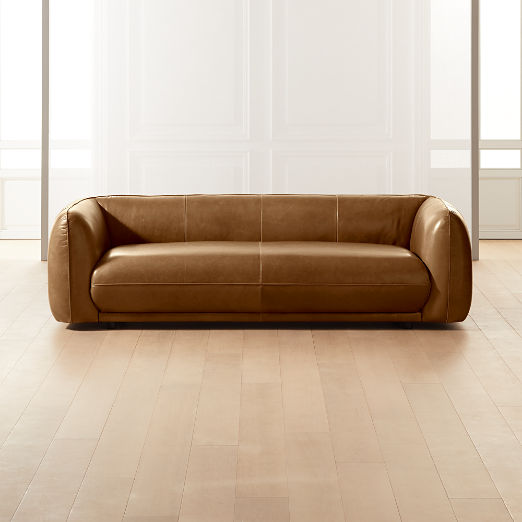 Valmar Tobacco Leather Sofa