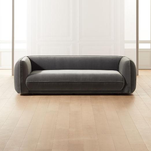 Valmar Grey Velvet Sofa