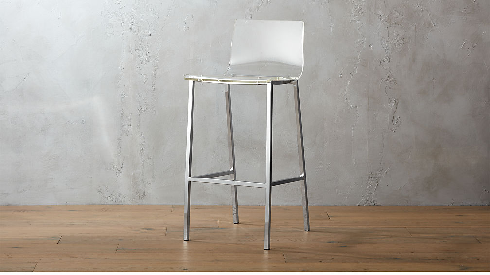 Vapor 30 Quot Acrylic Bar Stool Reviews Cb2