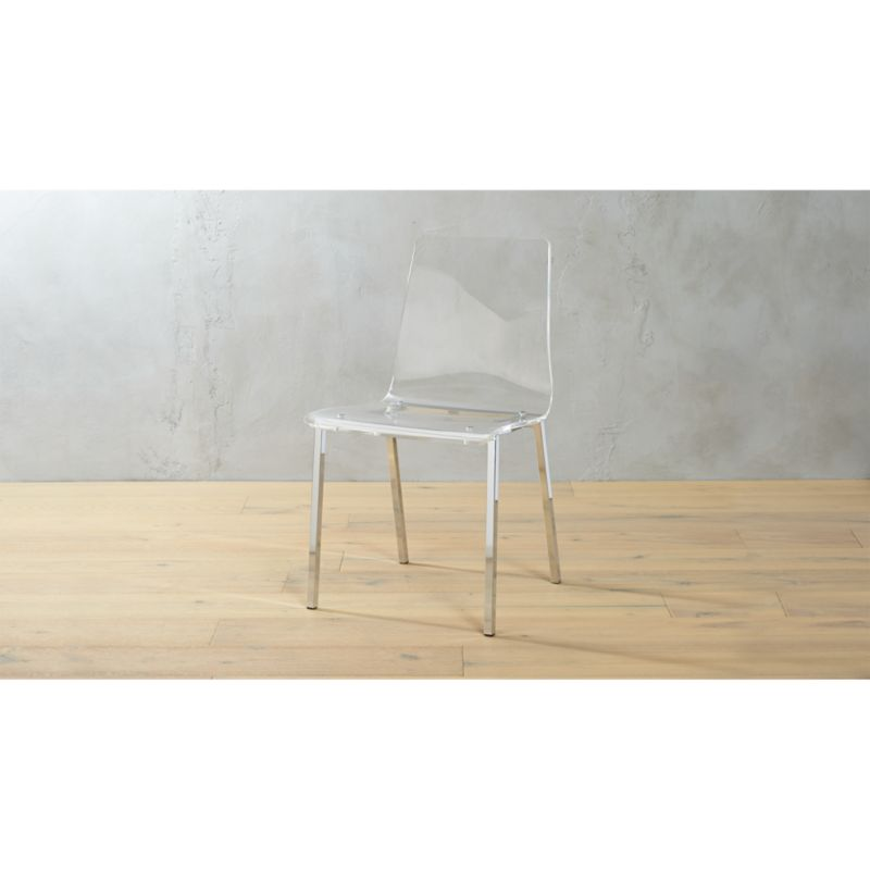 Charmant Vapor Clear Acrylic Side Chair | CB2