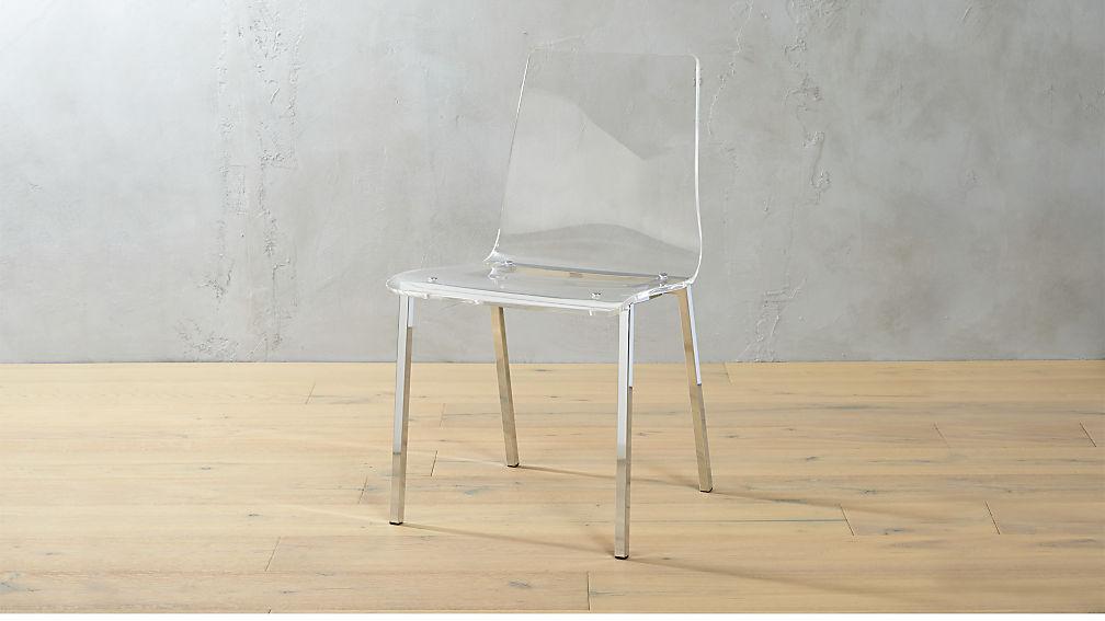 Beau Vapor Acrylic Chair + Reviews | CB2