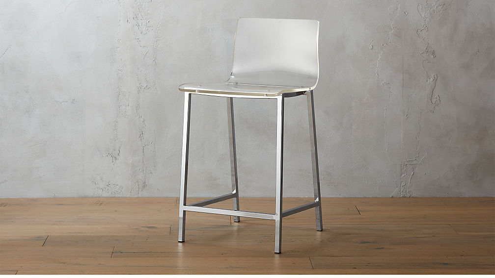 Vapor 24 Quot Acrylic Counter Stool Reviews Cb2