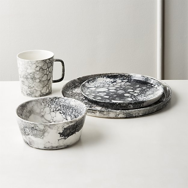 Vapor Black and White Dinnerware - Image 1 of 11