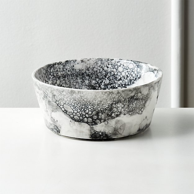 Vapor Black and White Soup Bowl - Image 1 of 12