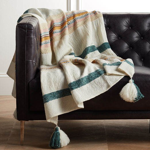 Veda Striped Throw