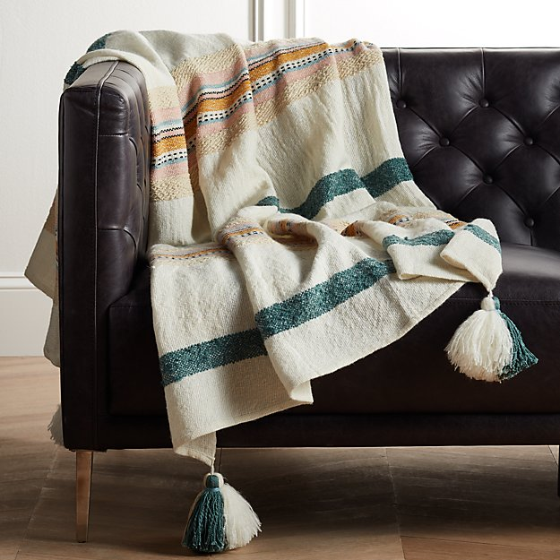 Veda Striped Throw - Image 1 of 4