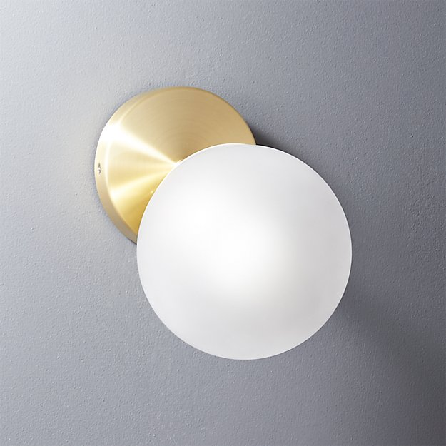 Vega Bath 1 Bulb Brass Wall Sconce Reviews Cb2