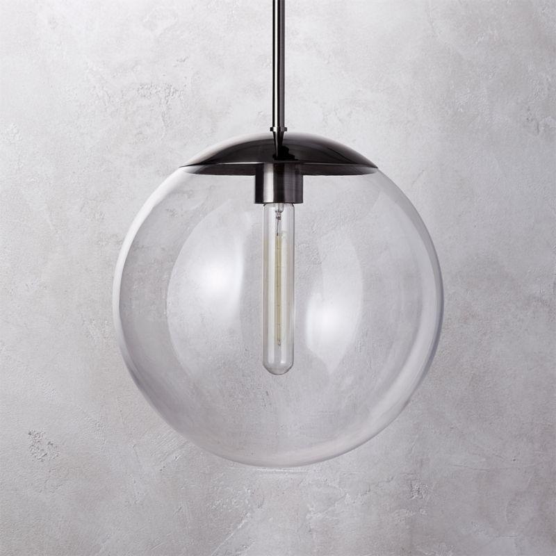 globe pendant light fixture clear globe pendant light cb2