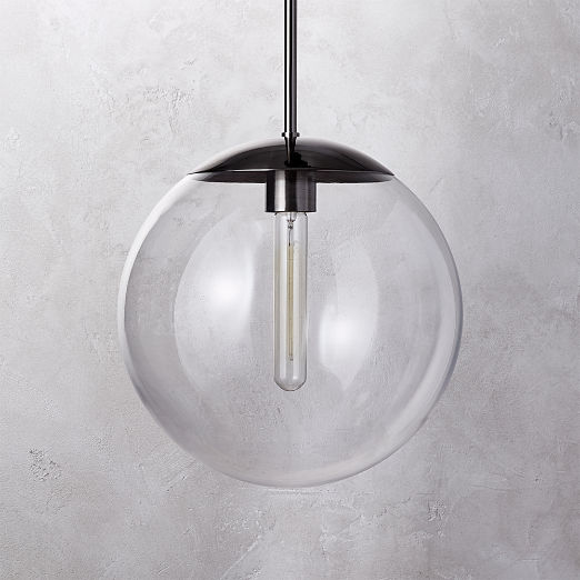 Vega Indoor-Outdoor Black Nickel Pendant Light