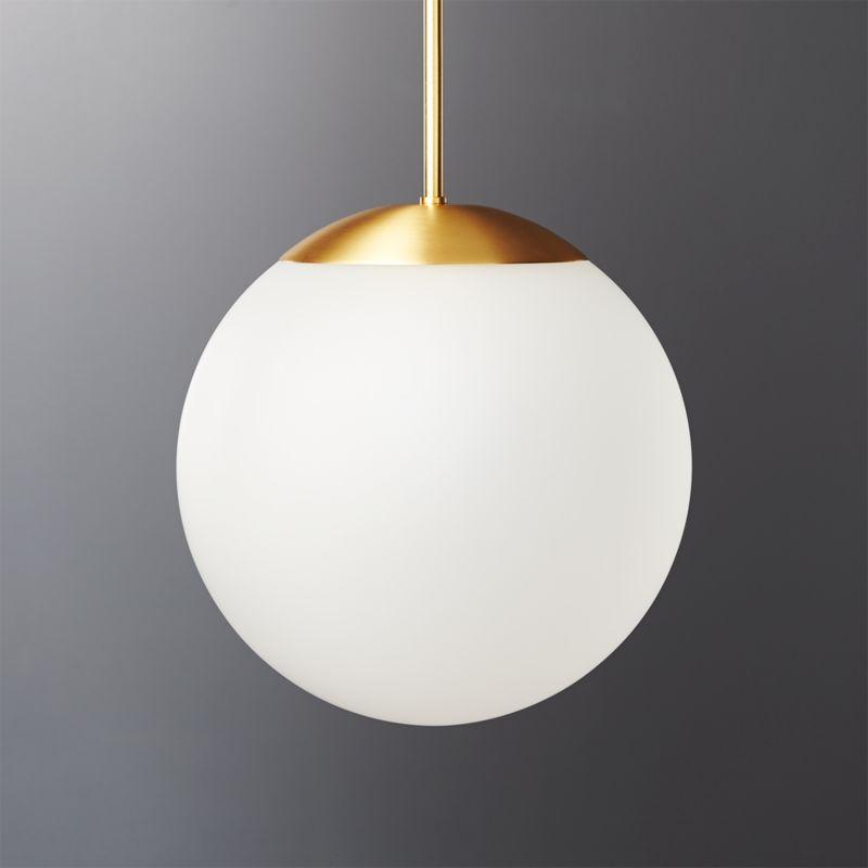 Vega Indoor Outdoor Brass Pendant Light Reviews Cb2