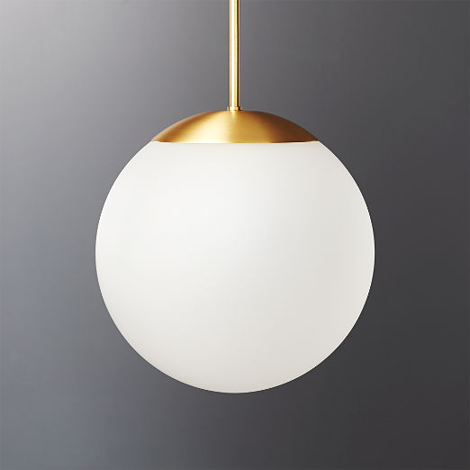 Vega Indoor-Outdoor Brass Pendant Light