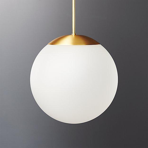 Vega Indoor-Outdoor Brass Pendant Light - Image 1 of 12