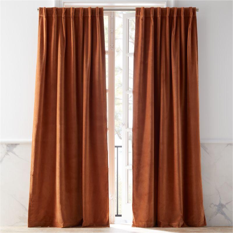 Velvet Copper Curtain Panel Cb2, How To Clean Cotton Velvet Curtains