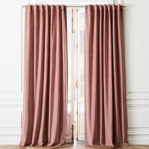Velvet Dusty Orchid Curtain Panel