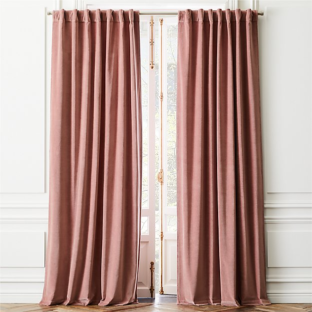 Velvet Dusty Orchid Curtain Panel - Image 1 of 3