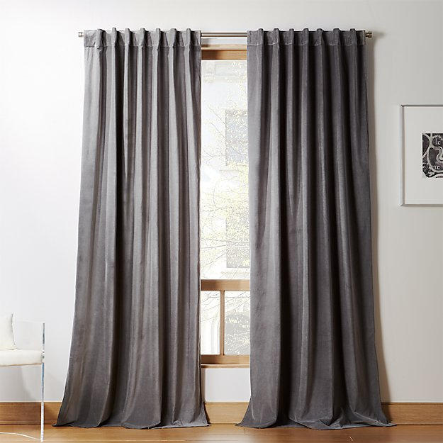 Velvet Graphite Curtain Panel - Image 1 of 11