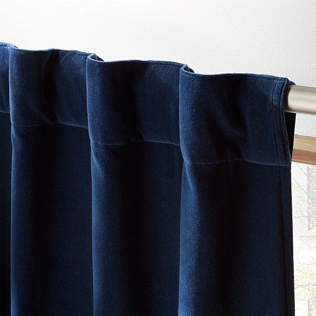 Velvet Navy Curtain Panel 48 Quot X84 Quot Reviews Cb2
