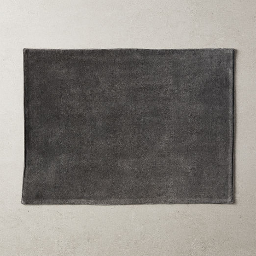 Velvet Placemat Charcoal