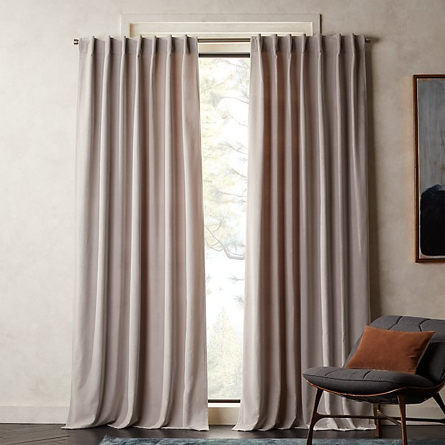 Velvet Silver Grey Curtain Panel - Image 1 of 2