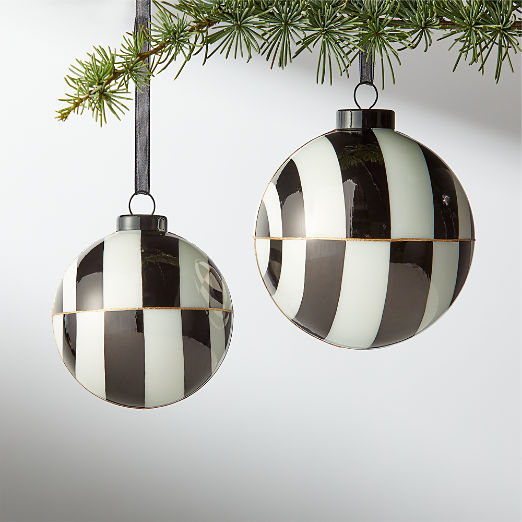 Versailles Black and White Ornaments