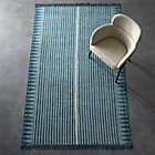 View product image Verso Indigo Blue Striped Rug - image 2 of 3