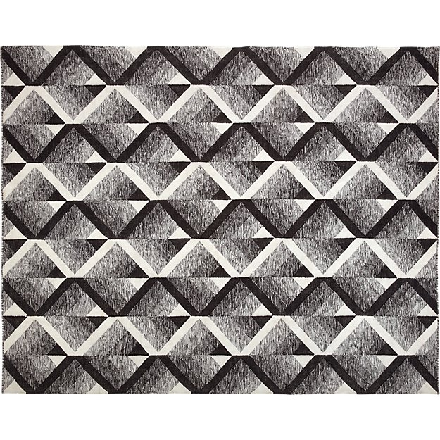 Vertigo Black and White Indoor-Outdoor Rug 8'x10' - Image 1 of 7