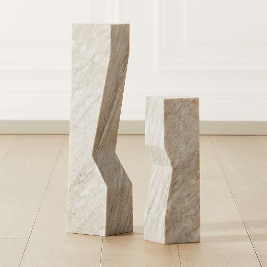 Vesta Marble Sculpture Pedestals