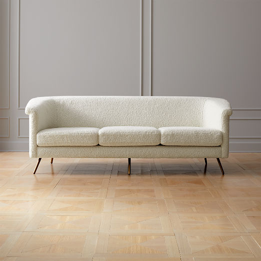 Vicente Faux Shearling Sofa