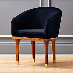 Attirant Viceroy Sapphire Blue Velvet Chair