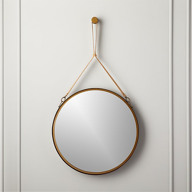 """Victor Leather 24"""" Mirror - Image 1 of 8"""