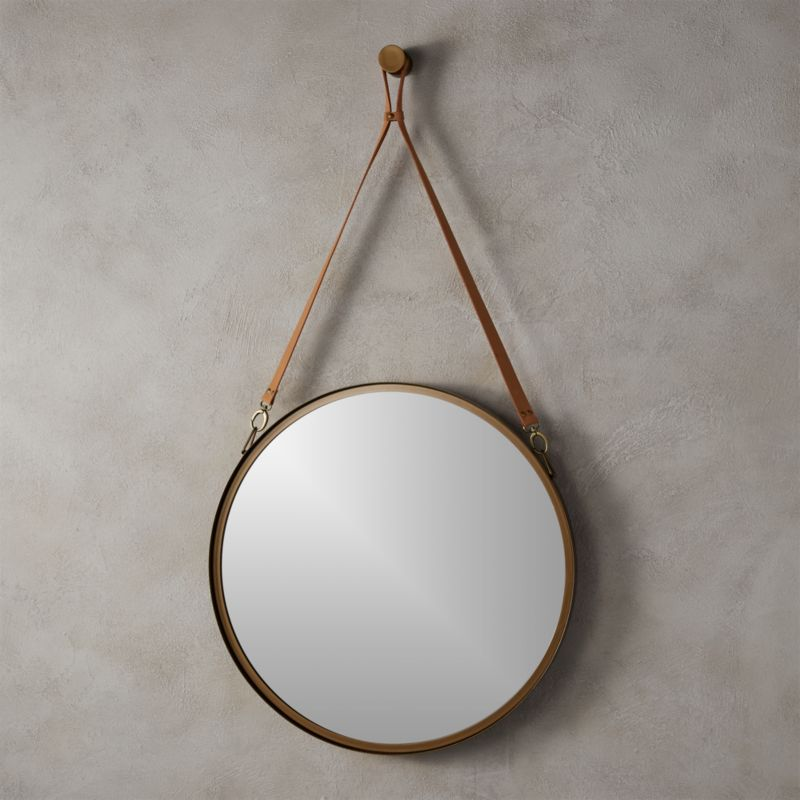 Victor Leather 24 Mirror