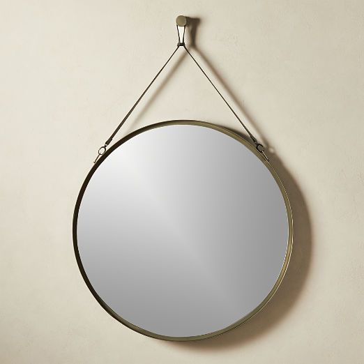 Victor Leather Gunmetal Mirror