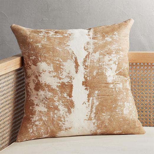 "20"" Vintaged Light Hide Pillow"