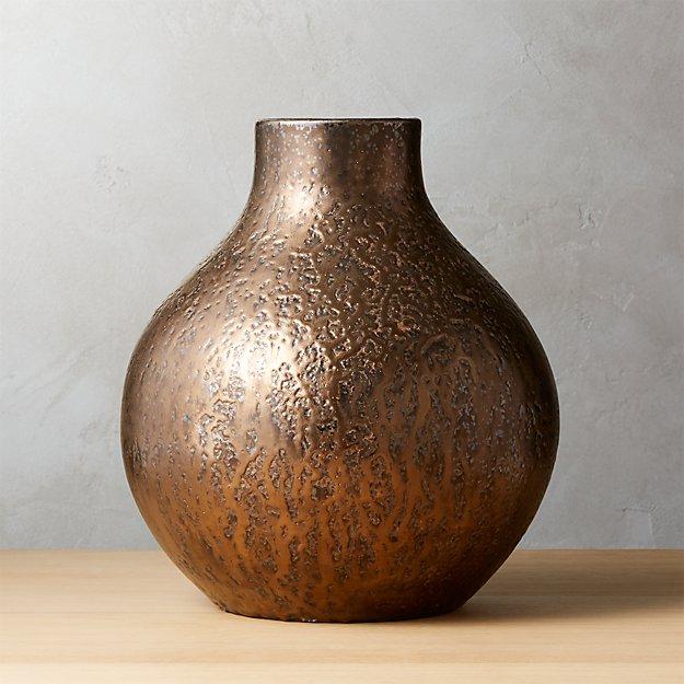 Volta Metallic Vase Reviews Cb2