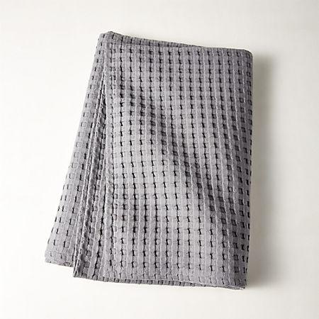 Grand Grey Waffle Weave Bath Towel