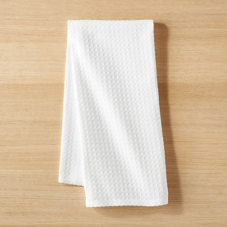 Waffle Weave White Dish Towel
