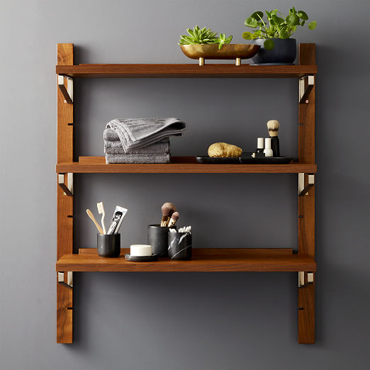 Walnut Modular Single Shelf 39.5""